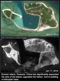 Island Top Satellite Images China Manufactures Land At New Sites In The
