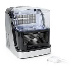 bed bath and beyond ice maker nostalgia electrics large capacity ice cube maker in silver clear