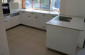 20mm stone benchtop kitchen with built in microwave and dishwasher