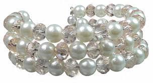 crystal pink bracelet images Crystal pink quartz white pearls emma multi strand flexible jpg