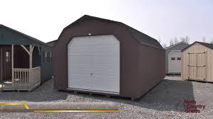 Barn Style Garage by 14 U0027 X 24 U0027 Prefab Garage Shed High Barn Style Shed Large