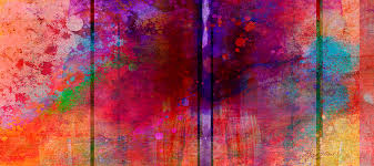 color burst two abstract art painting by ann powell