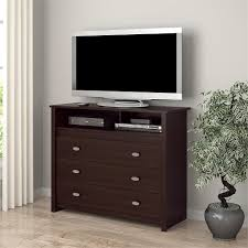 3 drawer dresser chest tv stand media storage modern bedroom