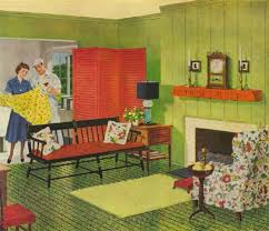 1940 homes interior uncluttered decorating big craze in this era and were a common