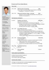 sle of latest resume format mca fresher resume format free download in word pdf exle