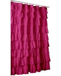 Cynthia Rowley Ruffle Shower Curtain Ruffled Shower Curtain Vintage Ruffle Shower Curtain 72w X 76l By