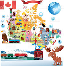 Alaska Canada Map by Cartoon Map Of Canada Stock Vector Art 482856469 Istock