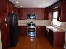 elegant classic cherry kitchen cabinets with granite countertops