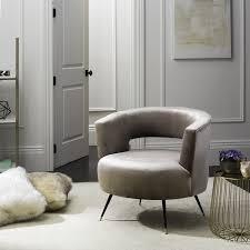 Mid Century Modern Accent Chair Safavieh Mid Century Modern Manet Velvet Hazelwood Accent Chair