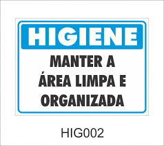 Common Higiene - Manter a área limpa e organizada - HIG002 - Higiene  #QO53