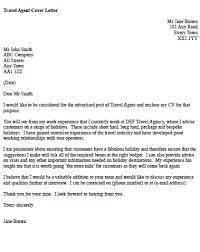 travel agent cover letter icover org uk
