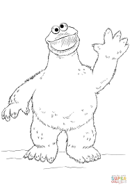 contemporary design cookie monster coloring page baby sitting free