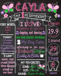 1st birthday chalkboard birthday chalkboard butterfly theme