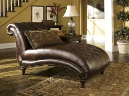 Leather Tufted Sofa by Ashley 8430315 Claremore Antique Brown Tone Faux Leather Tufted Chaise