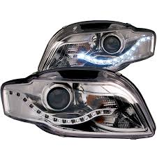 audi a4 headlights anzo usa audi a4 rs4 s4 06 08 projector headlights chrome clear