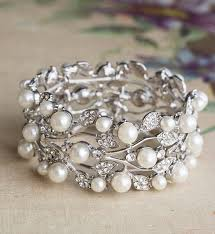 crystal pearl bracelet images Catherine chunky crystal and pearl bracelet by anusha jpg