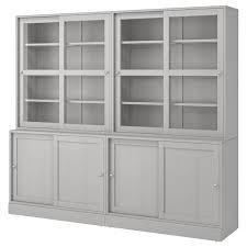ikea kitchen cabinet sliding doors havsta storage with sliding glass doors gray 95 1 4x18 1