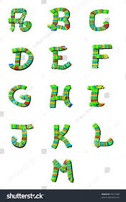 alphabet letters am decorative letters each stock illustration