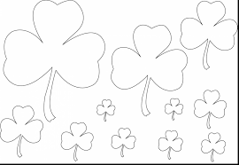 unbelievable st patricks day coloring page with shamrock coloring