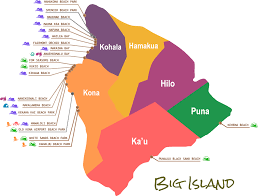 map of hawaii big island beaches map hawaii big island