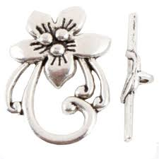 Toggle Clasps For Jewelry Making - 10sets flower shaped toggle clasps findings tibetan silver clasp