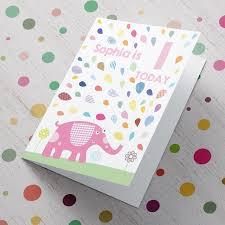 personalised card birthday pink elephant gettingpersonal co uk