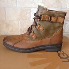ugg s belfair boots ugg belfair chestnut leather sheepskin waterproof duck boots us 9
