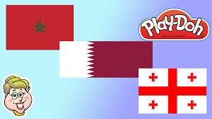 Georgia Flag Play Doh Flags Qatar Morocco And Georgia Ewmj 164 Youtube