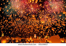 fireworks lantern sky lantern stock images royalty free images vectors
