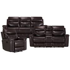 city furniture wallace dark brown microfiber reclining sofa