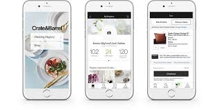 registering for wedding gifts wedding and gift registry app crate and barrel