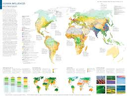 World Map Biomes by Anthrome Maps