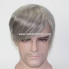 fine gray hair wide forehead lw2435 grey hair men s toupee fine mono hairpiece