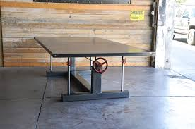 10 Foot Conference Table Crank Conference Table U2013 Vintage Industrial Furniture