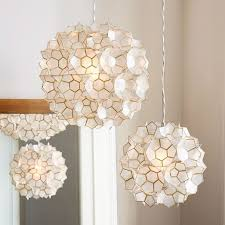 Capiz Light Pendant Capiz Flower Pendant West Elm