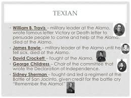 texian used in place of the word texan throughout the period of