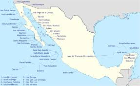 West Coast Of Florida Map by List Of Islands Of Mexico Wikipedia