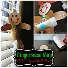 gingerbread man toilet paper roll craft for kids cute christmas
