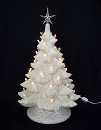 Miniature Led Christmas Tree White Christmas White Ceramic Christmas Tree 19 Inches Ceramic