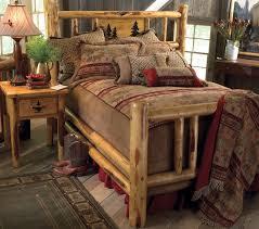Rustic Log Bedroom Furniture Rustic Cedar And Aspen Log Beds Reclaimed Furniture Design Ideas