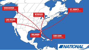 Windsor Usa Map by National Airlines 5th World Airline News