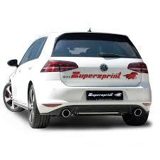 volkswagen golf gti 2013 performance sport exhaust for vw golf mk7 gti