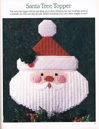 santa tree topper 1 3 christmas magic in plastic canvas