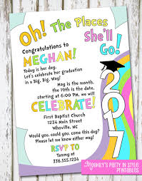 oh the places you ll go party oh the places you ll go graduation invitation