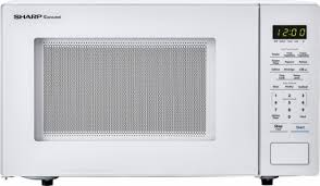 Standard Size Microwave by Sharp Carousel 1 1 Cu Ft Mid Size Microwave White Smc1131cw