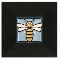 4x4 bee light blue motawi tileworks motawi tileworks