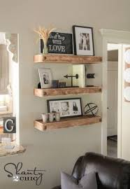 Floating Wood Shelves Diy best 25 floating shelves for tv ideas on pinterest floating tv