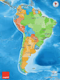 Maps Of South America by Political Map Of South America Political Shades Outside