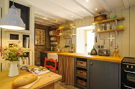 River Cottage Kitchen - river barn cottage for couple on the banks of the wye views of