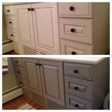 chalk painting a bathroom vanity at home with jen chalk paint
